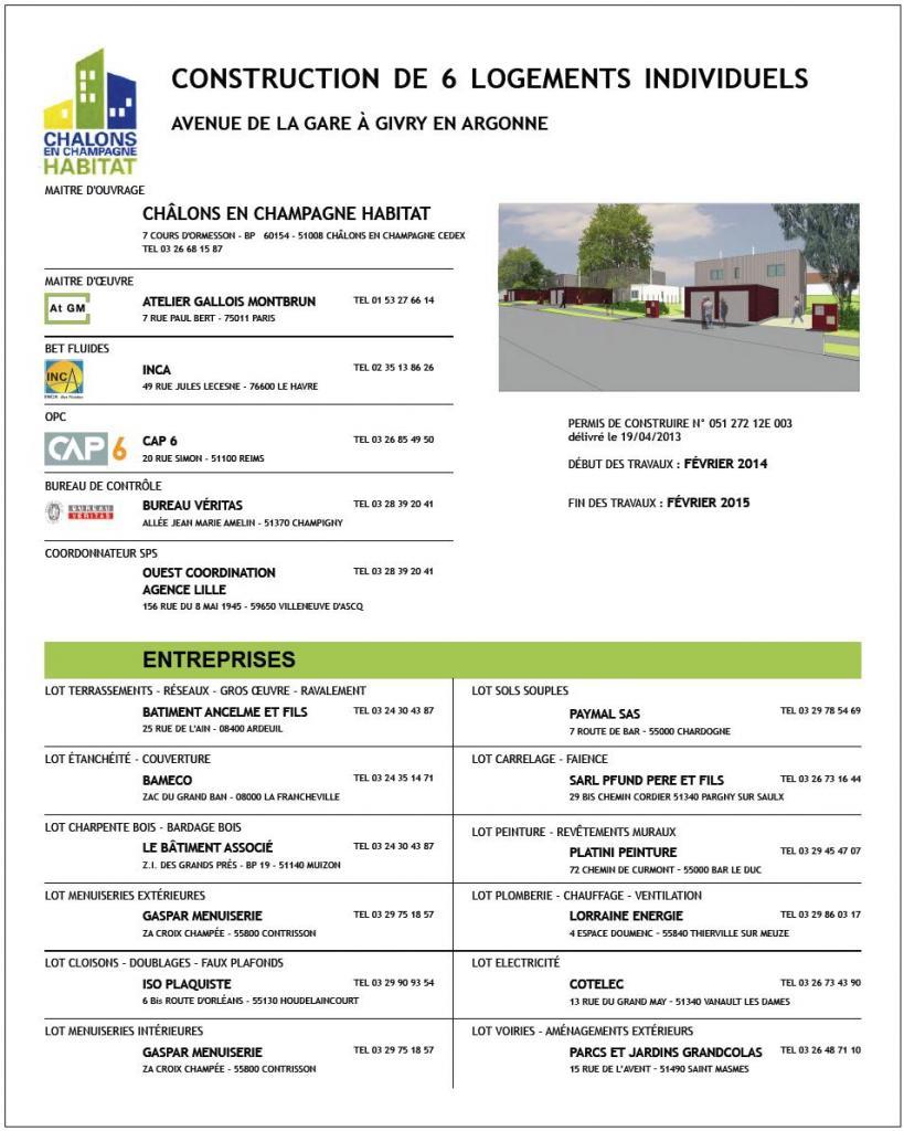 Panneau de Chantier - 6 Logements à Givry en Argonne