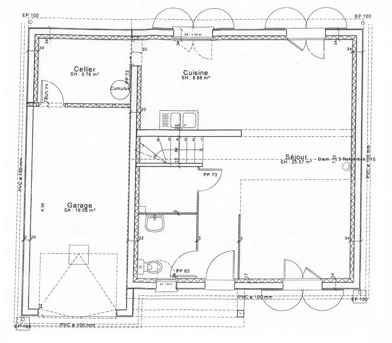 Maison cl en main ardennes 08 et marne 51 for Plan maison en t